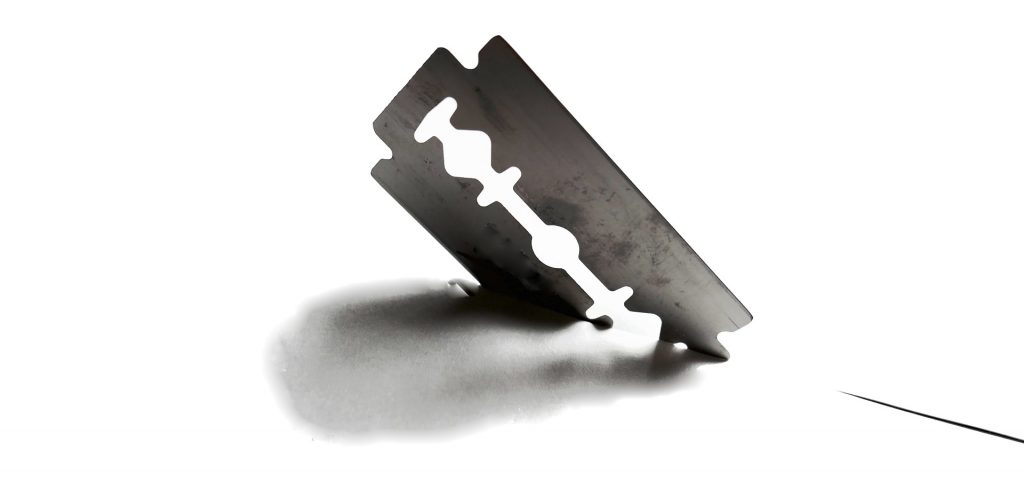 razor blade, self harm, youth, child, children, youth mental health, anxiety
